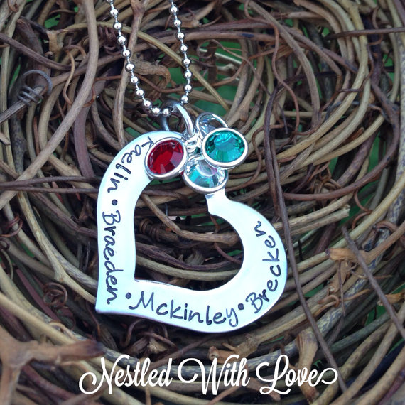 A personalised birthstone necklace gift.